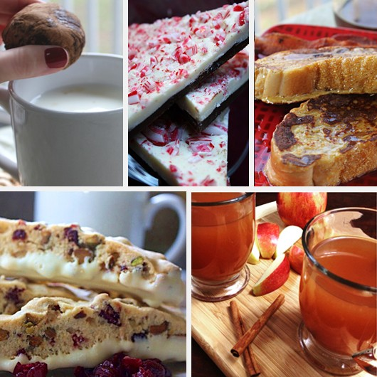 Holiday Recipes Christmas - Hot Chocolate Truffles, Peppermint Bark, Eggnog French Toast, Cranberry Pistachio Biscotti, Homemade Apple Cider