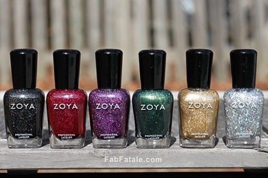 Zoya Ornate Holiday 2012 Swatches