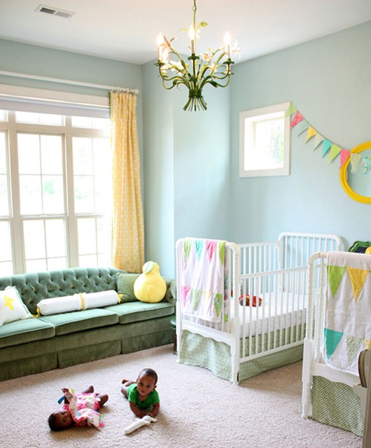 Gender Neutral Nursery Green Blue Yellow