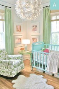 Gender Neutral Nursery Tiffany Blue Green