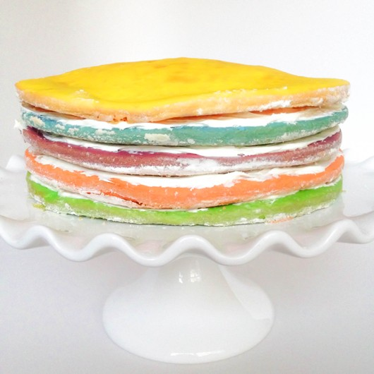 Sprinkles Rainbow Layer Cake