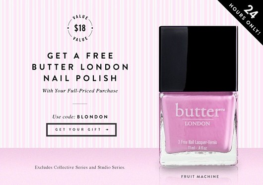 JewelMint + Butter London Promo Code - Fab Fatale