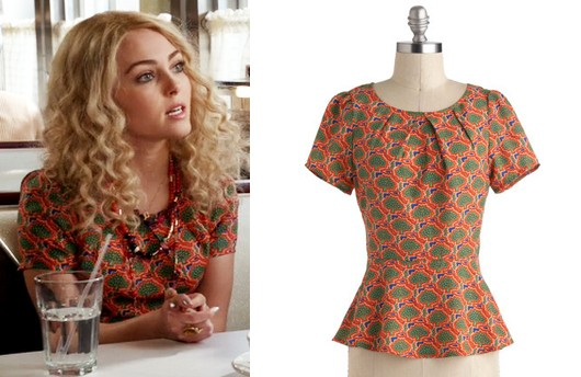 Carrie Diaries Peplum Top