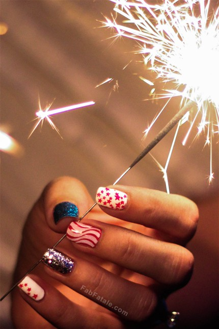 Forth Of July Manicure