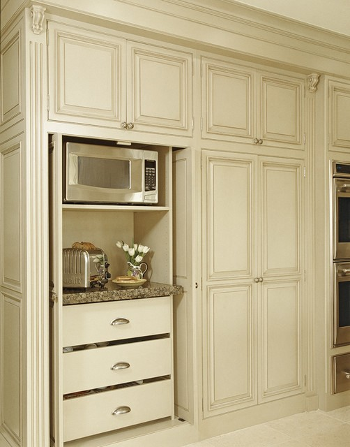 Room by room inspiration series the kitchen fab fatale - Kitchen appliance storage cabinet ...