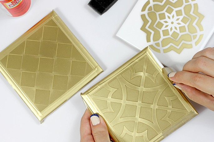 DIY Moroccan Tile Coasters