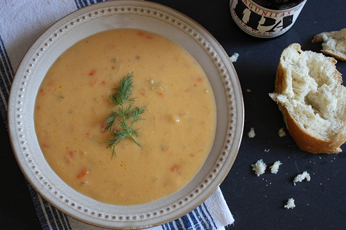 Wisconsin Beer Cheese Soup - Fab Fatale