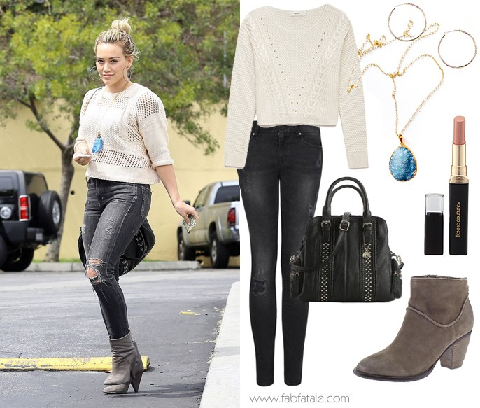 Hillary Duff Look For Less Crop Sweater
