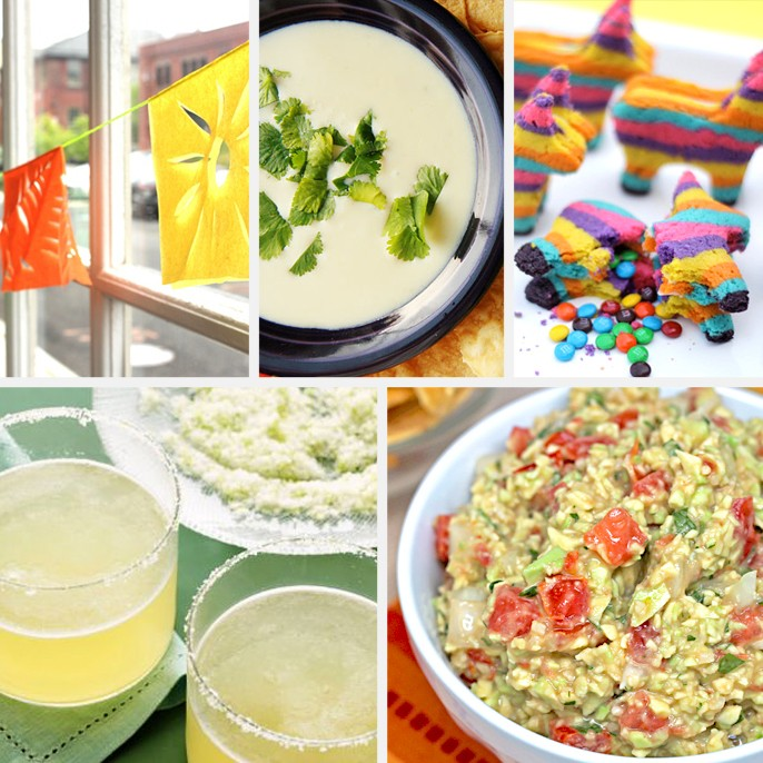 Cinco De Mayo Guacamole Salsa Recipe Margarita Garland Mexican Cheese Dip Pinata Cookies