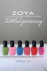 Zoya Tickled Giveaway