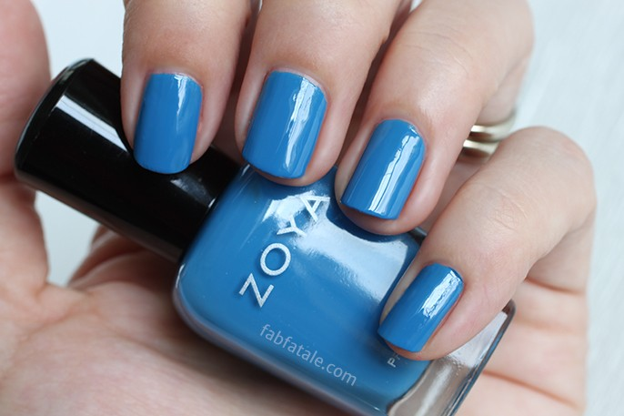 Zoya Tickled Ling Medium Royal Blue Cream Nail Polish Swatch