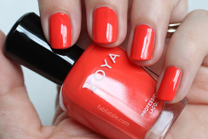 Zoya Tickled Rocha Red Cream Nail Polish Swatch