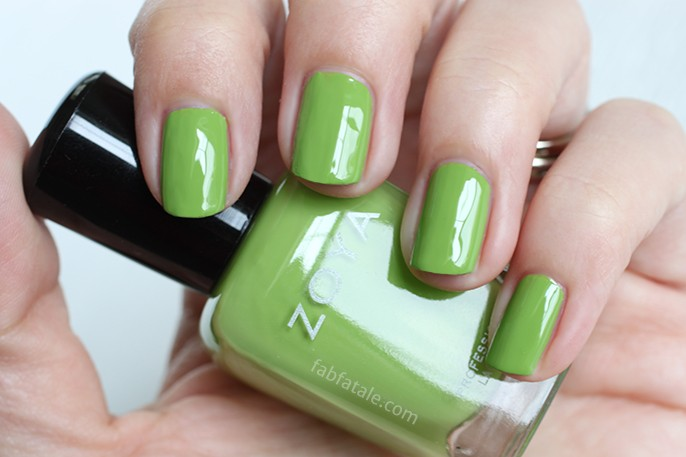 Zoya Tickled Tilda Medium Green Cream Nail Polish Swatch