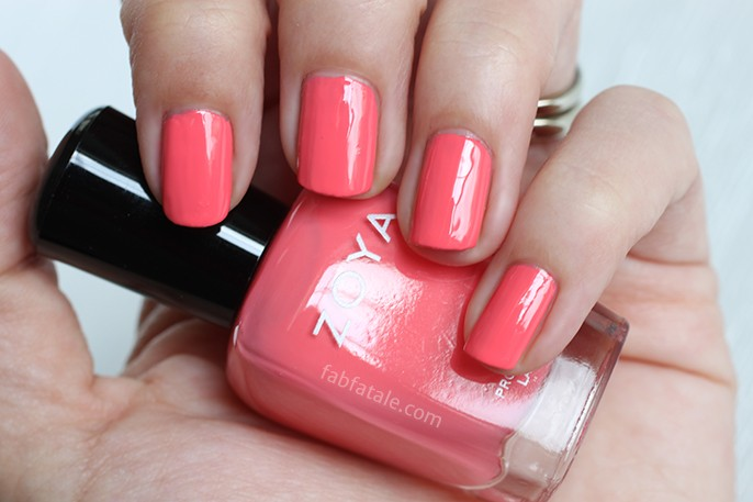 Zoya Tickled Wendy Peach Pink Melon Cream Nail Polish