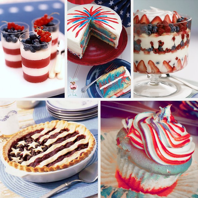 4th Of July Desserts - Cupcakes Cake American Flag Pie Trifle