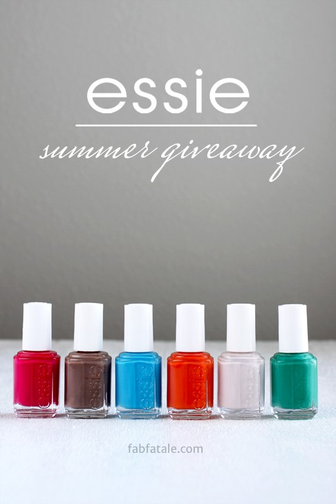 I just entered to win the entire Essie Summer 2014 collection at http://www.fabfatale.com/2014/06/manicure-mondays-essie-summer/ #nailpolish #giveaway #essie #essiesummer