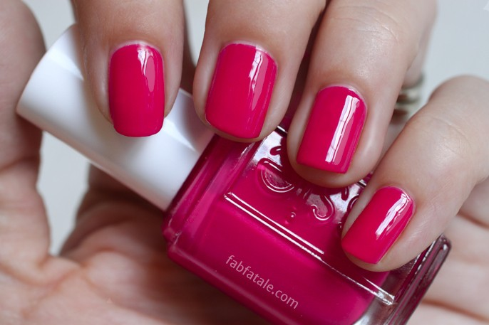 Essie Summer 2014 Swatches - Haute In The Heat Hot Pink Cream