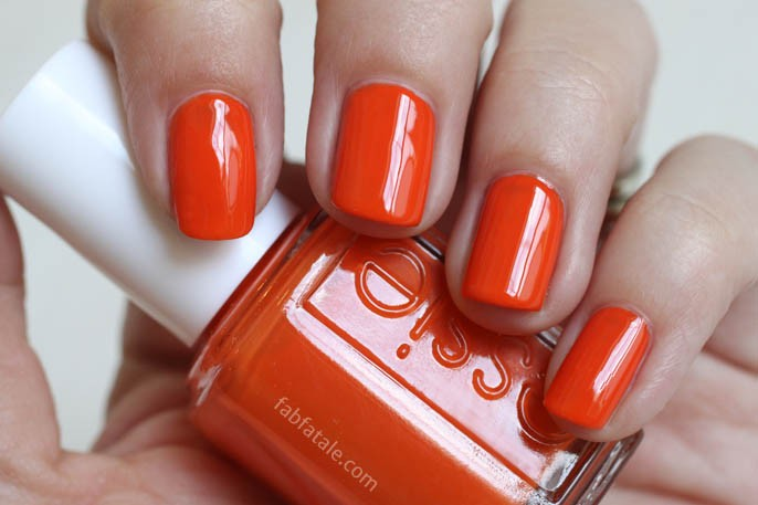 Essie Summer 2014 Swatches - Roarrrrange Orange Cream