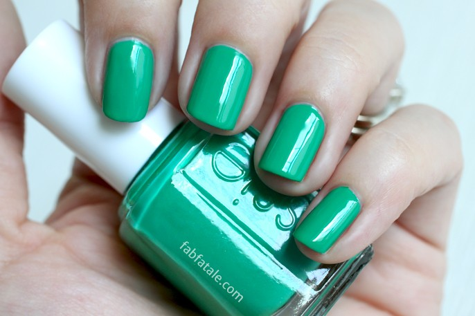 Essie Summer 2014 Swatches - Ruffles And Feathers Green Cream