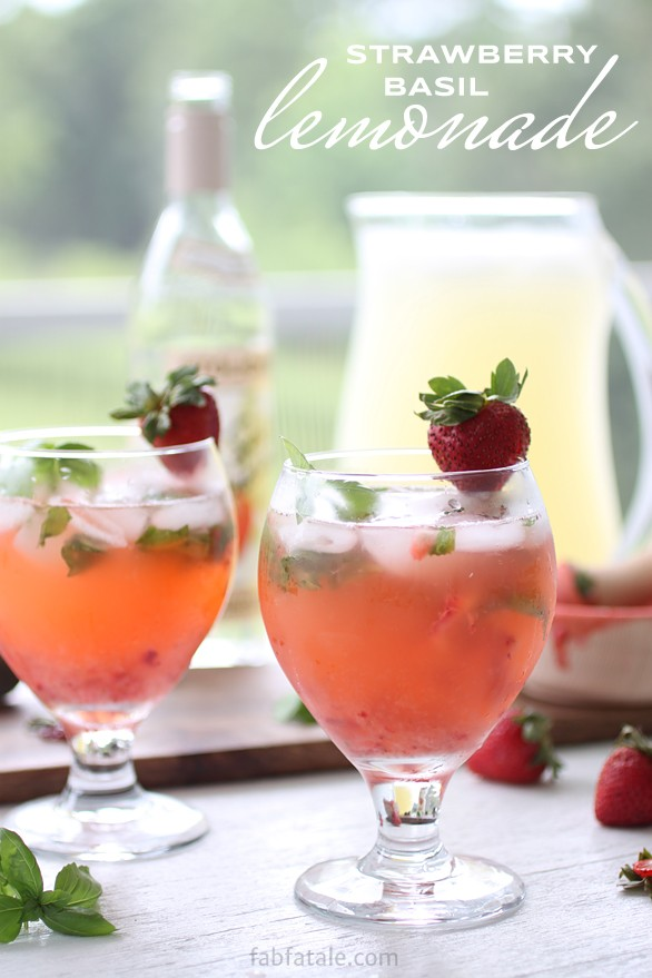 Boozey Tuesdays - Strawberry Basil Lemonade - Fab Fatale