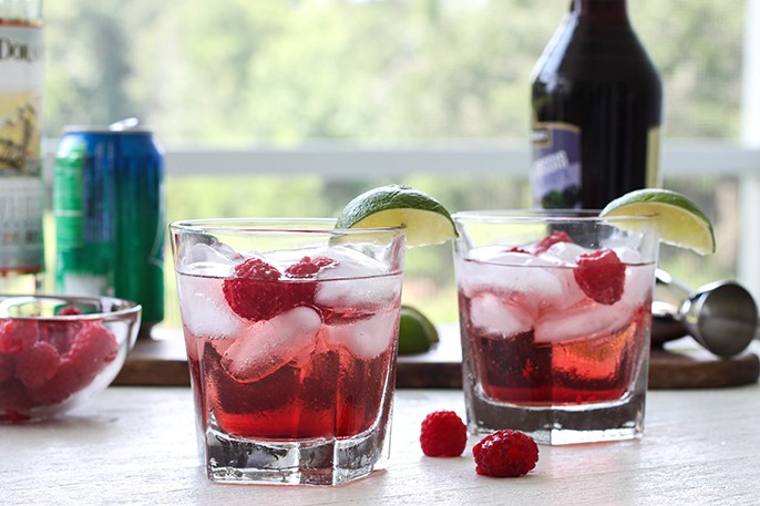 Raspberry Blimey - Summer Cocktail