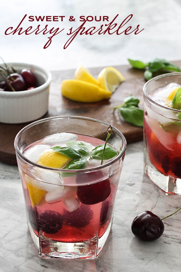 Summer Cocktail - Sweet And Sour Cherry Sparkler