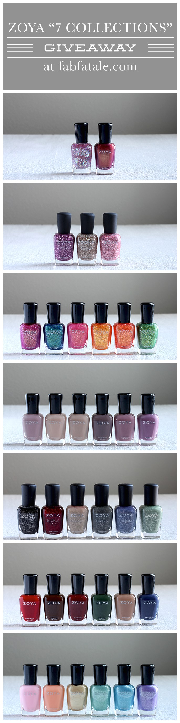 I just entered to win the entire Zoya 7 collection giveaway at http://www.fabfatale.com/2014/07/manicure-mondays-my-biggest-zoya-giveaway-ever #zoya #nailpolish #giveaway