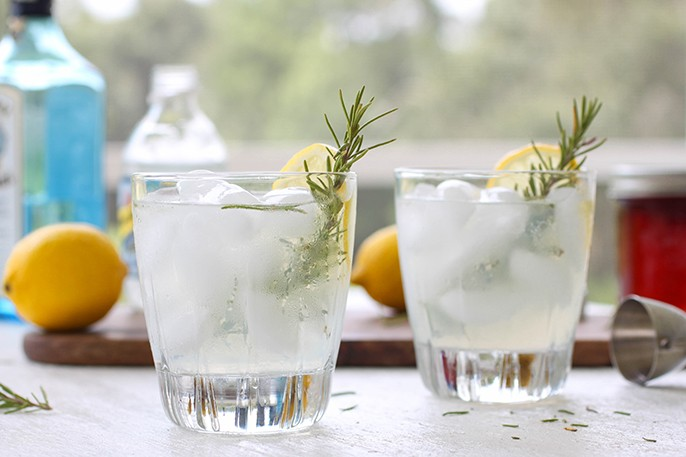 ... rosemary gin fizz the weekend lemon rosemary gin fizz with cucumber