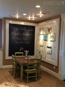 Chalkboard Wall Table Chairs Artwork