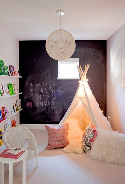 Chalkboard Wall TeePee Bookshelves