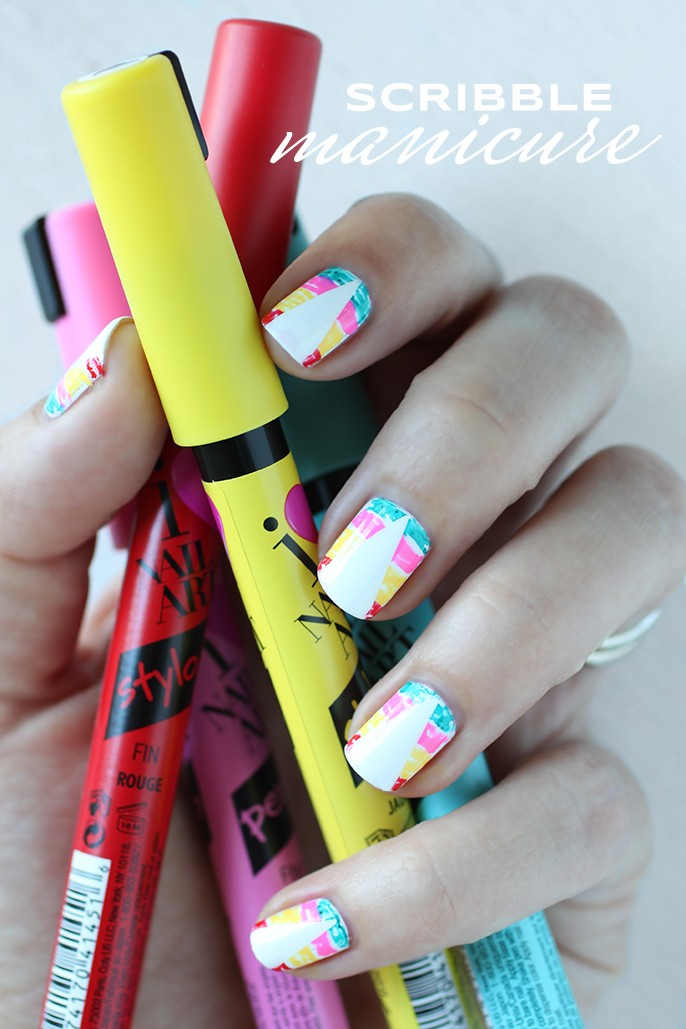 Manicure mondays scribble nails fab fatale sally hansen i heart nail art pen prinsesfo Images