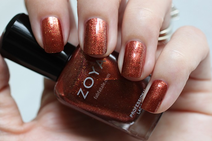 Zoya Ignite Autumn Orange Gold Glitter Shimmer Nail Polish