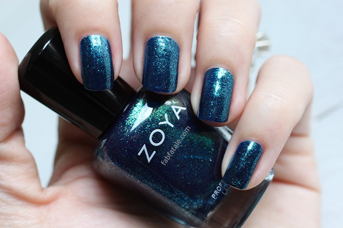 Zoya Ignite Remy Dark Blue Teal Glitter Shimmer Nail Polish