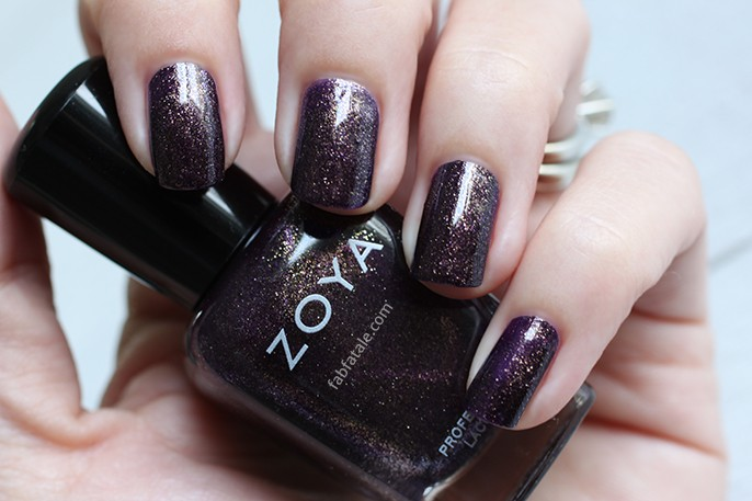 Zoya Ignite Sansa Dark Purple Glitter Shimmer Nail Polish