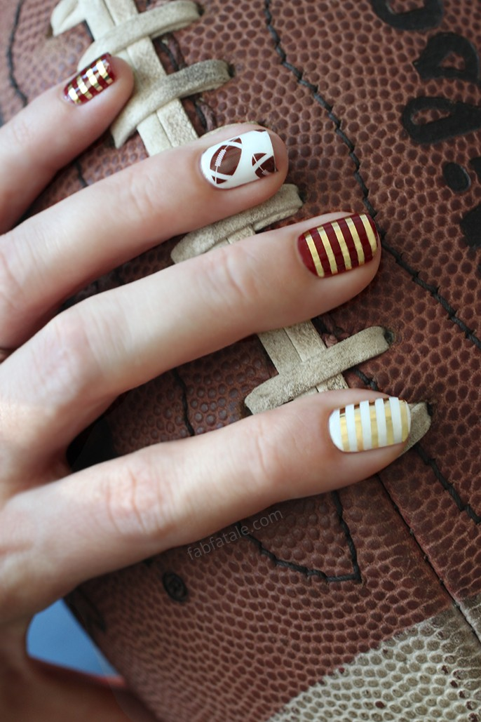 Football Manicure Nails