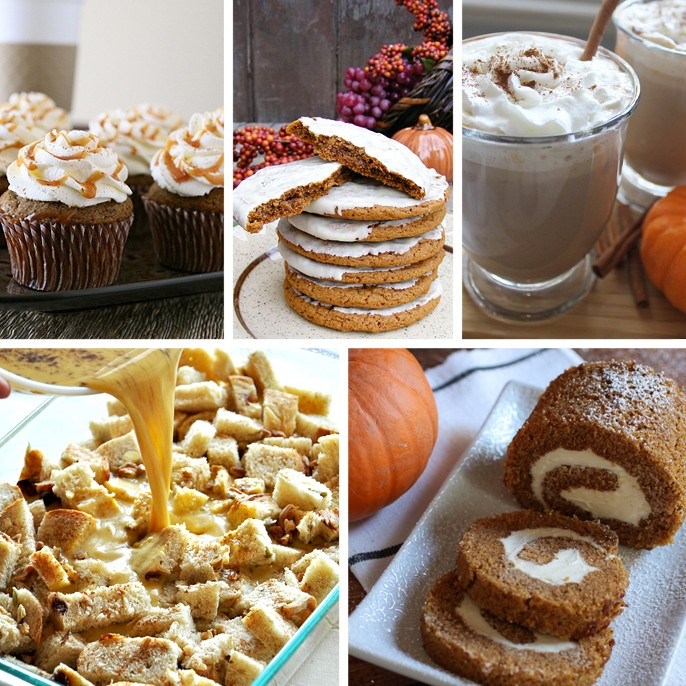 Pumpkin Spice Cupcakes Cookies Hot Chocolate French Toast Cream Cheese Rollup Recipe