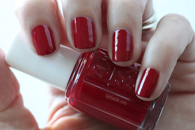 Essie Fall 2014 Swatches Dress To Kilt Red Cream Nail Polish