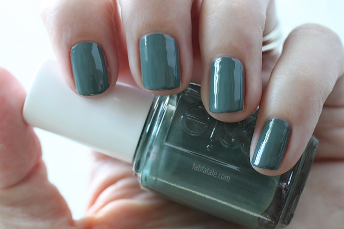 Essie Fall 2014 Swatches Fall In Line Green Cream Nail Polish