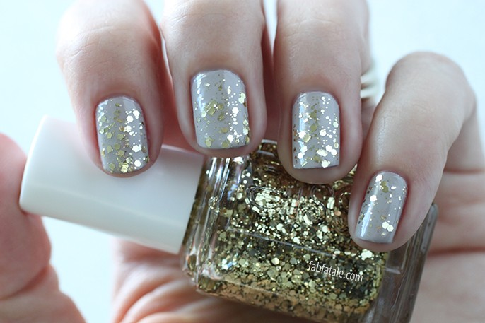 Essie Fall 2014 Swatches Rock At The Top Gold Glitter Nail Polish