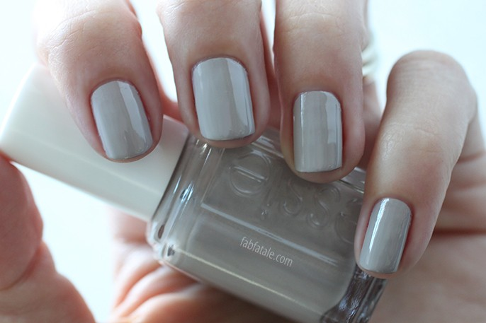 Essie Fall 2014 Swatches Take It Outside Light Gray Cream Nail Polish