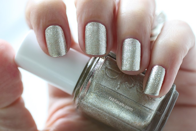 Essie Holiday Winter 2014 Swatches Jiggle Hi, Jiggle Low Silver Gold Shimmer Nail Polish