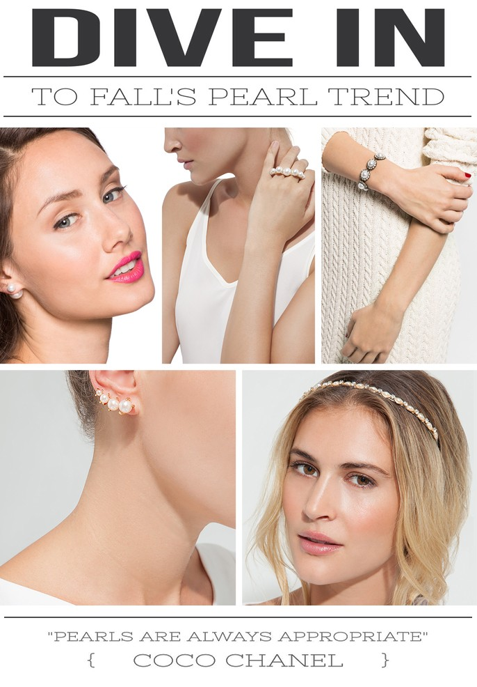 Fall 2014 Fashion Trend Pearl Jewelry Accessories