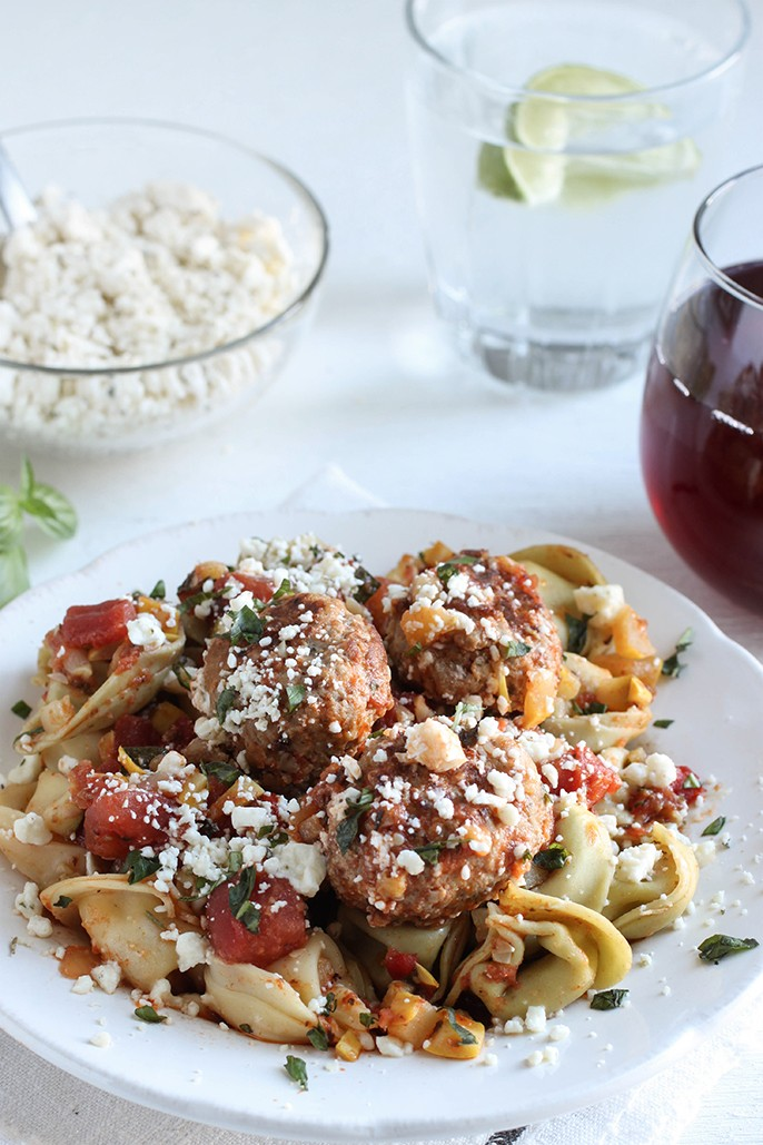 Italian Meatball And Bruschetta Tortellini Recipe