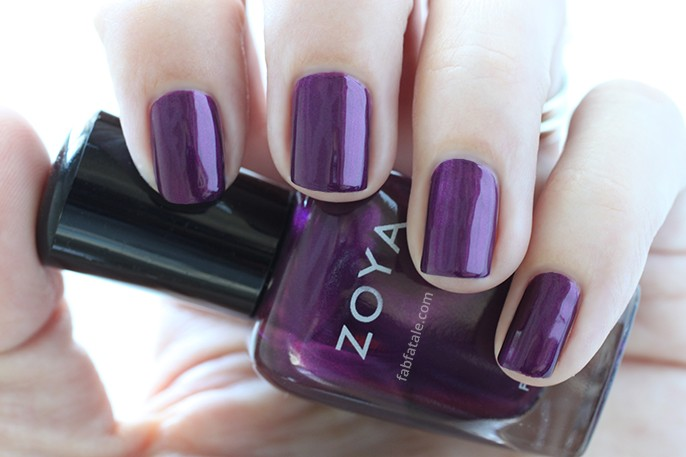 Zoya Haven Purple Metallic Nail Polish Swatch Holiday Winter Wishes