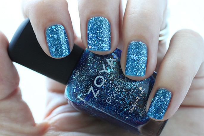 Zoya Nori Blue PixieDust Nail Polish Swatch Holiday Winter Wishes