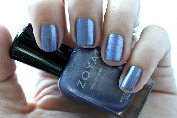 Zoya Prim Blue Metallic Nail Polish Swatch Holiday Winter Wishes