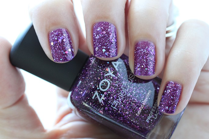 Zoya Thea Purple PixieDust Nail Polish Swatch Holiday Winter Wishes