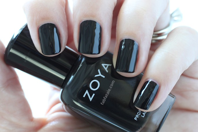 Zoya Willa Black Cream Nail Polish Swatch Holiday Winter Wishes