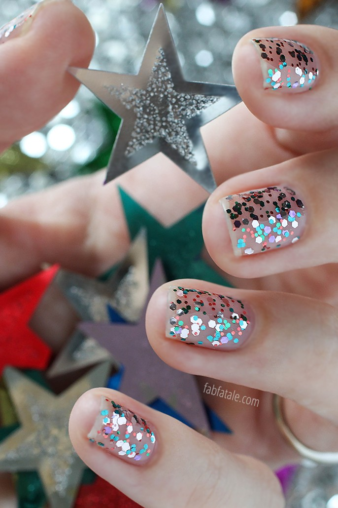 Manicure Mondays - New Year\'s Eve Confetti Nails - Fab Fatale