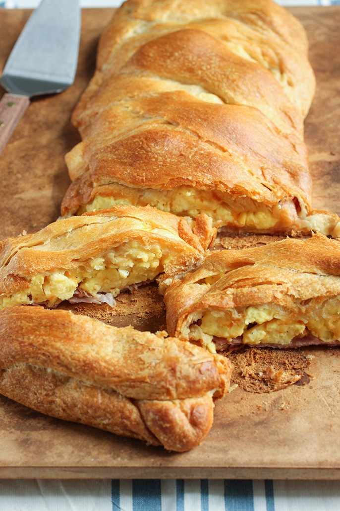 ham, egg, and cheese croissant breakfast braid – recipe slightly ...